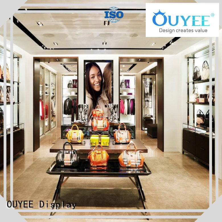 modern boutique shoe cabinet furniture shelves OUYEE company