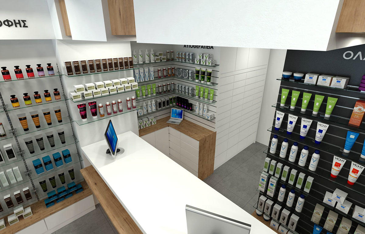 newest pharmacy interior fast installation for display OUYEE-3