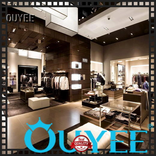 OUYEE Brand rack counter boutique clothing display racks children supplier