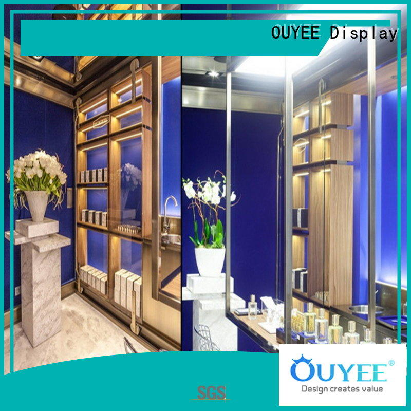 OUYEE top brand perfume glass stand bulk production for supermarket