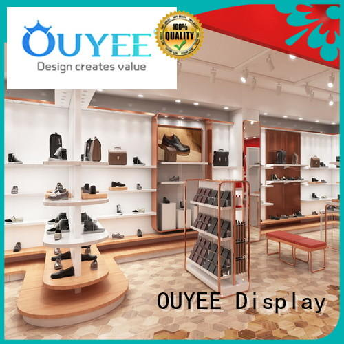 OUYEE low cost shoe display stand eye-catching for business