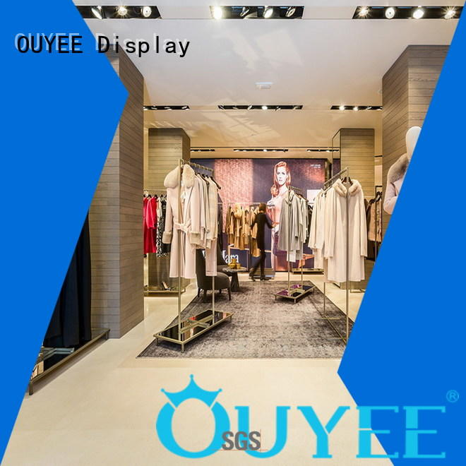 OUYEE fast installation clothing garment rack cheapest price for ladies clothing