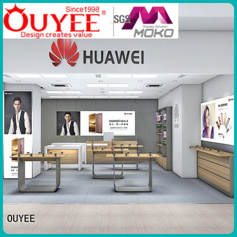 phone repair kiosk ideas designs electronic shop display display OUYEE Brand