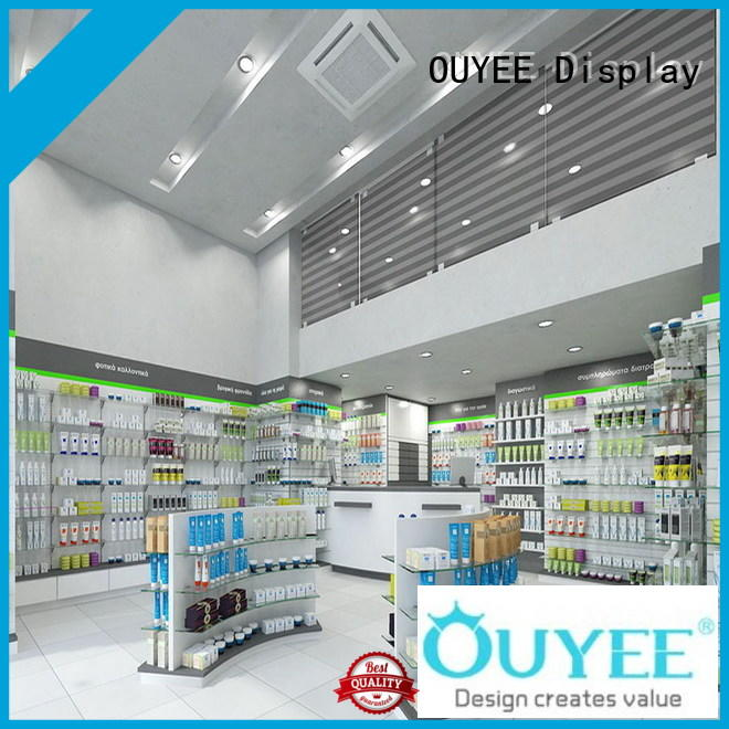 OUYEE modern medical shop counter fast delivery for shop