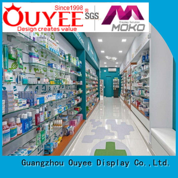 OUYEE durable medical store design fast installation for store