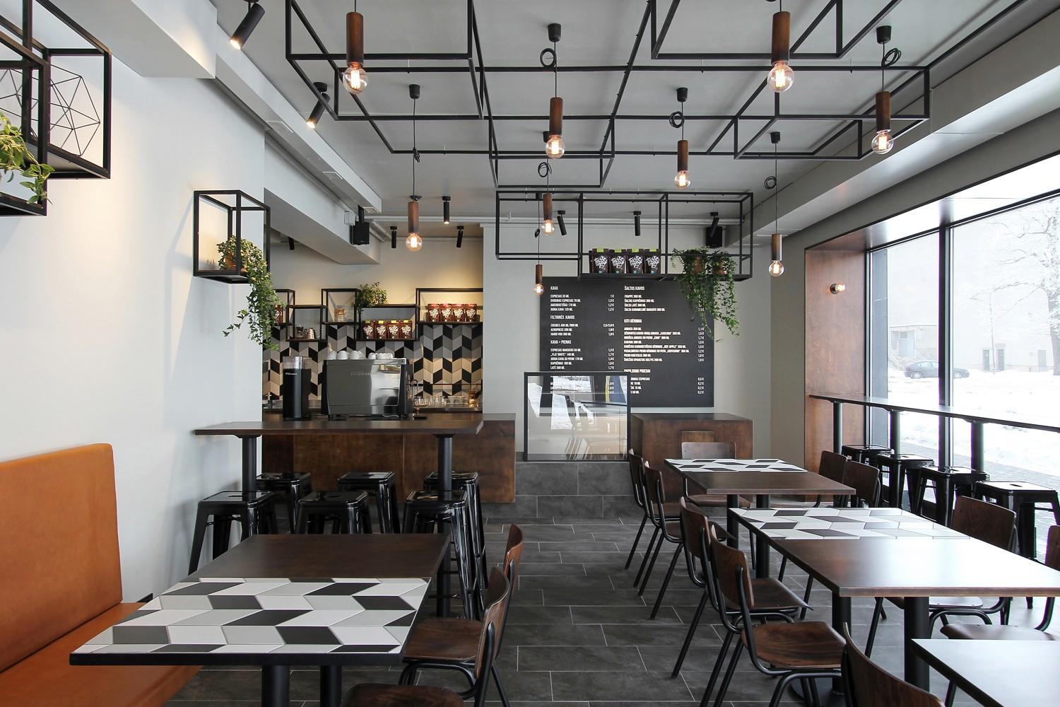 OUYEE chic coffee cafe interior design modern for club-3