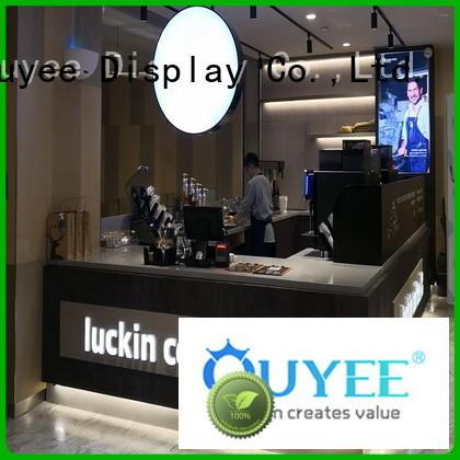 interior kiosk coffee shop station OUYEE company