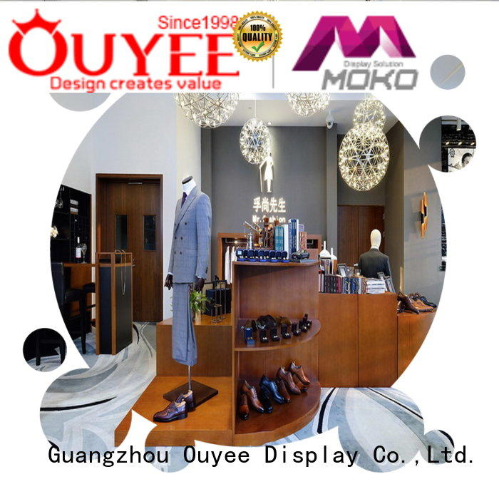 boutique clothing display racks menswear ouyee Bulk Buy showroom OUYEE