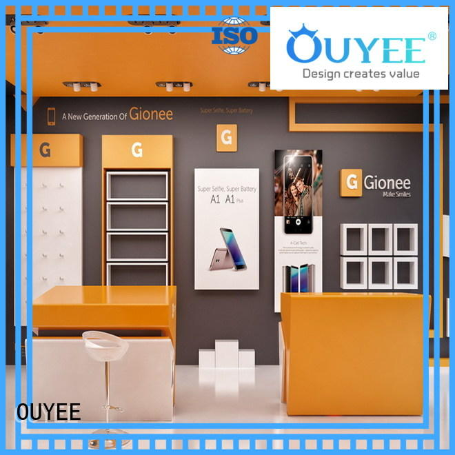 mobile phone display rack wooden for decoration OUYEE