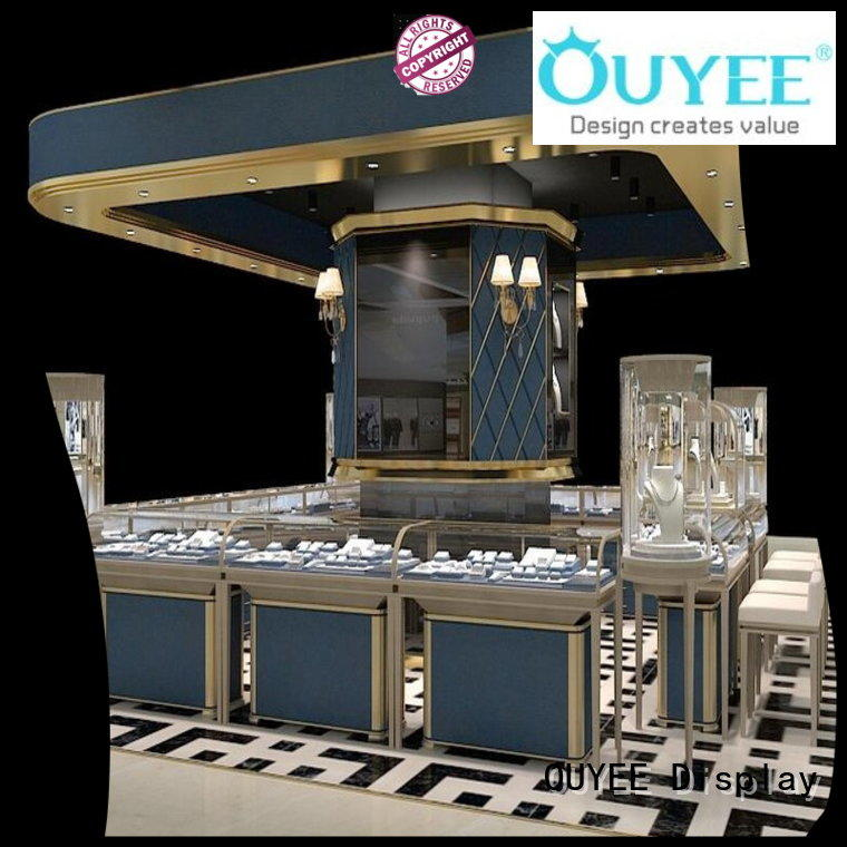 OUYEE chic style wood jewelry display commercial for store