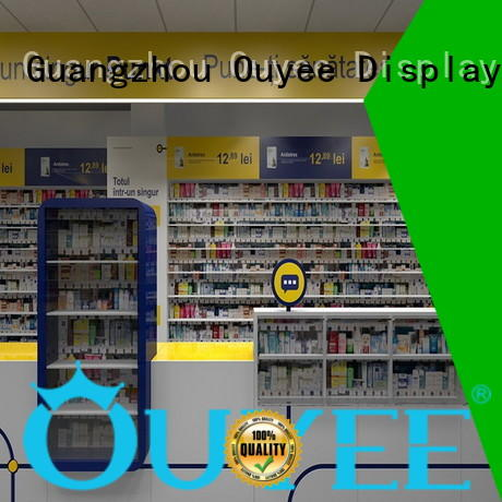 OUYEE top brand pharmacy store fixtures and design vendor for medicine