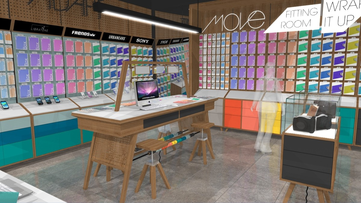 Mobile Repairing Counter Design Plywood Fast Installation For Store Ouyee