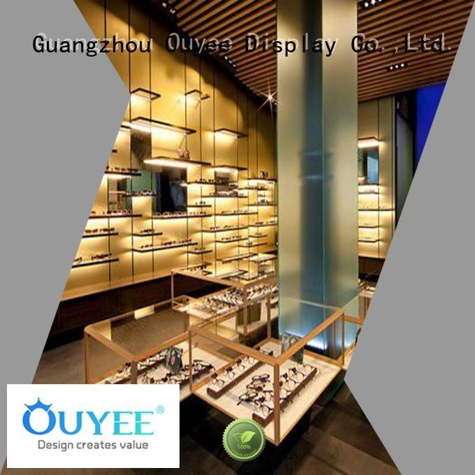 Wholesale wood eyeglass display stand OUYEE Brand
