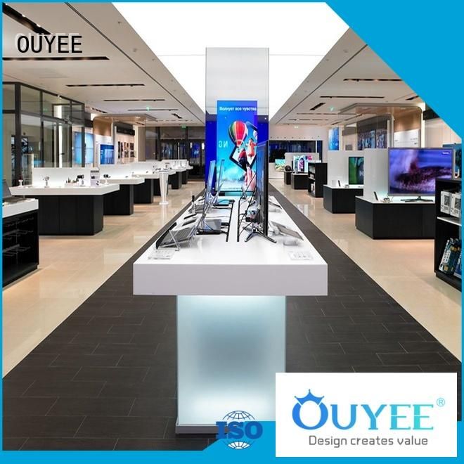 OUYEE hot-sale mobile phone shop counter design wooden for store