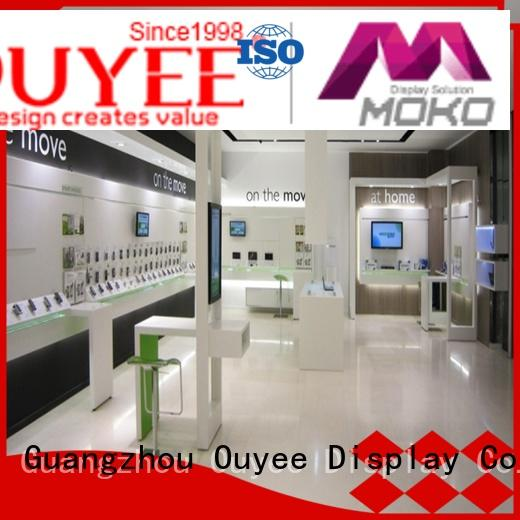 OUYEE top selling cell phone store fixtures displays showcase for decoration