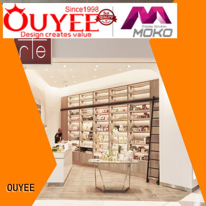 OUYEE chic design perfume display tray bulk production for supermarket