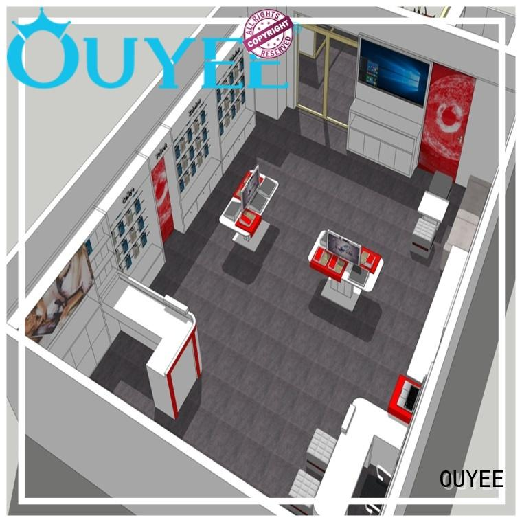 OUYEE top brand mobile shop decoration ideas wooden for electronics