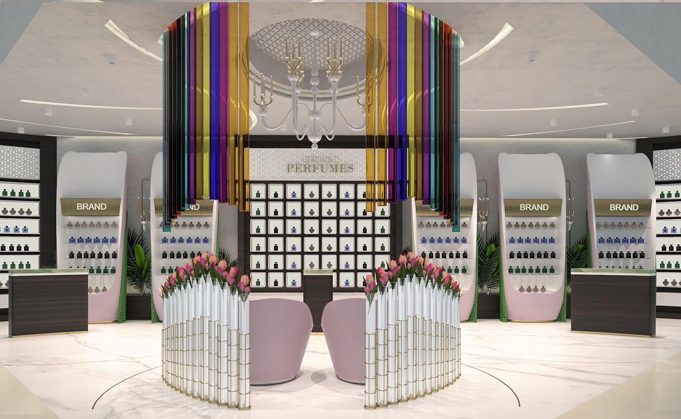 perfume shelf display durable for supermarket OUYEE