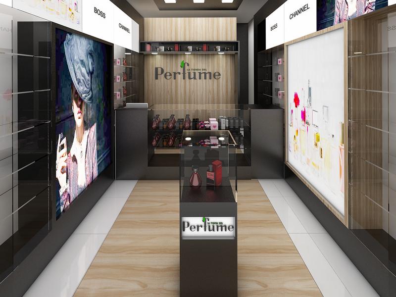 Perfume Shop Design Display Perfume Shelf OY-PFD004