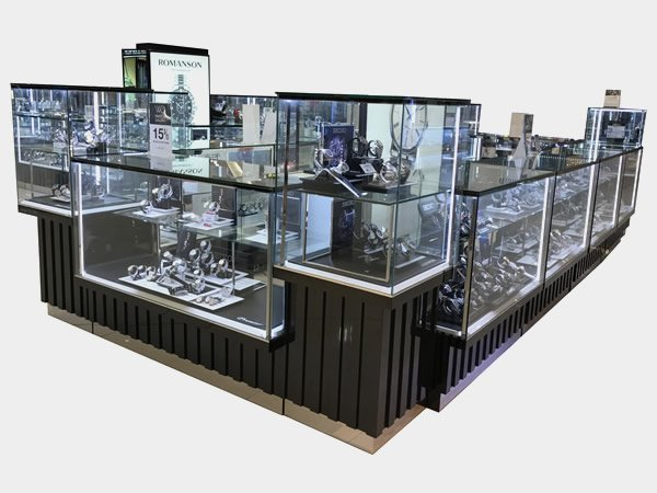 jewellery shop showcase design latest for store OUYEE-13