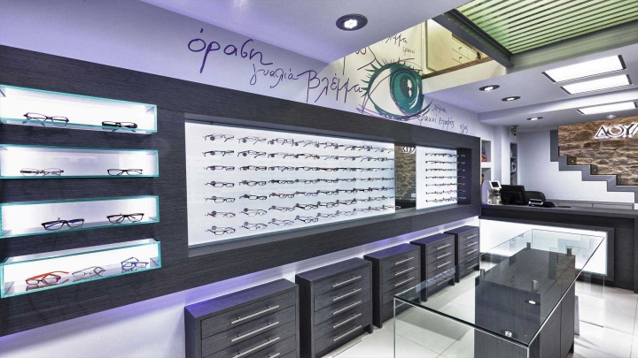 wooden eyewear cabinet top brand OUYEE-4