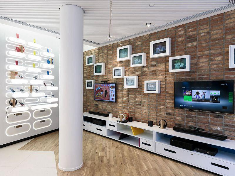 Electronic Store Display Mobile Shop Interior Design OY-MSD011