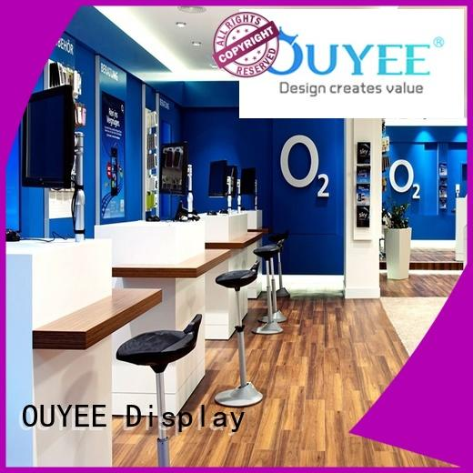 Custom cabinet electronic shop display design OUYEE