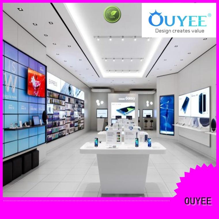 OUYEE top brand mobile phone display shelf free delivery for store
