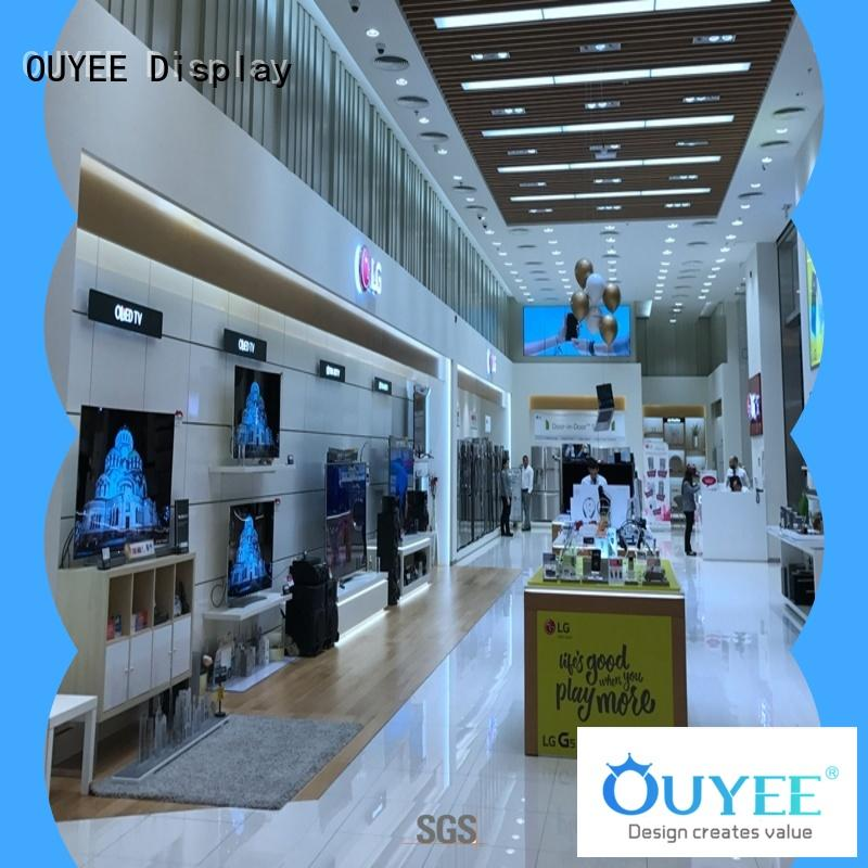 OUYEE wooden mobile shop counter table design bulk production for store