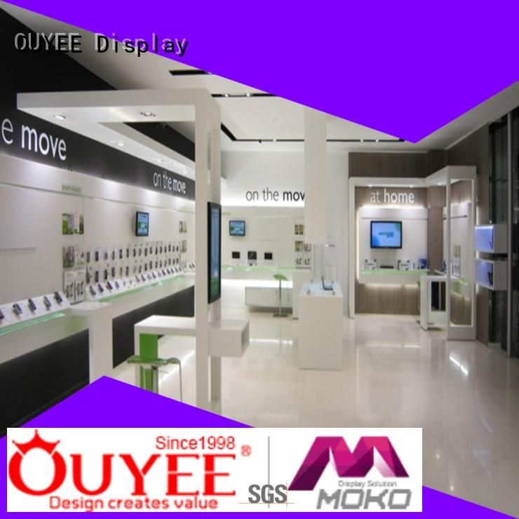 phone repair kiosk furniture cell cabinet OUYEE Brand electronic shop display