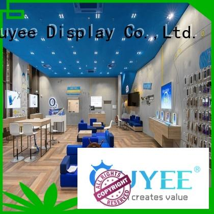 OUYEE plywood mobile phone shop interior design bulk production for decoration
