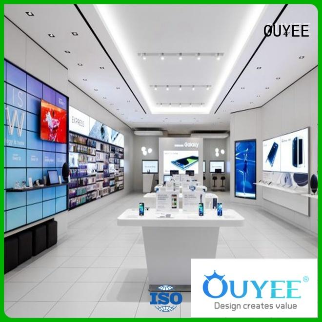 OUYEE quality mobile phone shop counter design bulk production for electronics