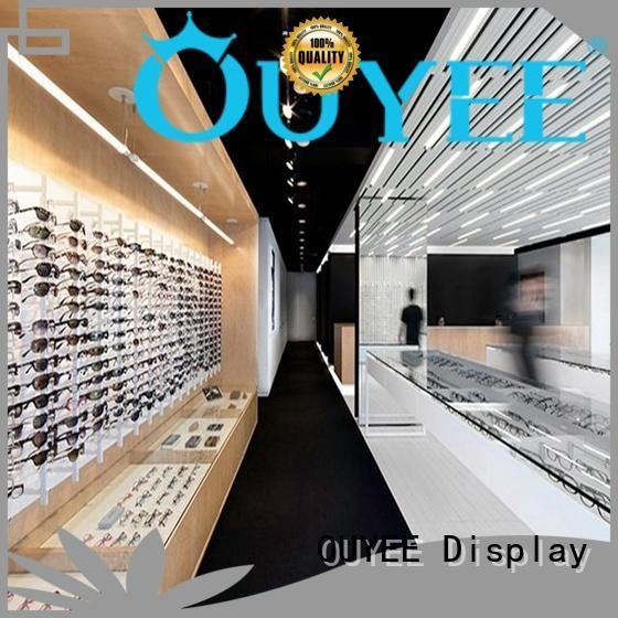 design eyeglass display stand decoration wooden OUYEE Brand