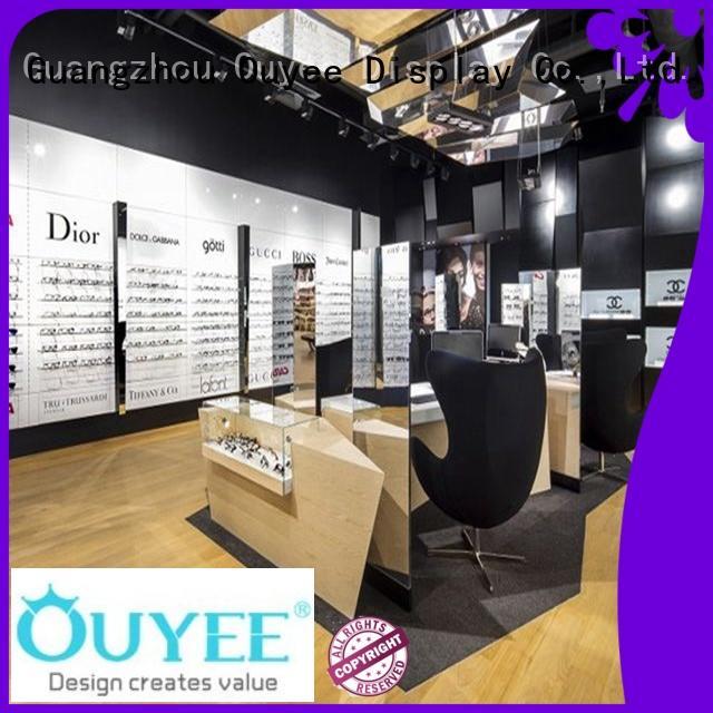 showroom rack wood OEM optical displays OUYEE