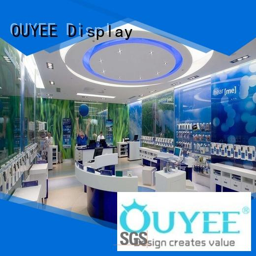 OUYEE Brand showcase phone repair kiosk electronic supplier