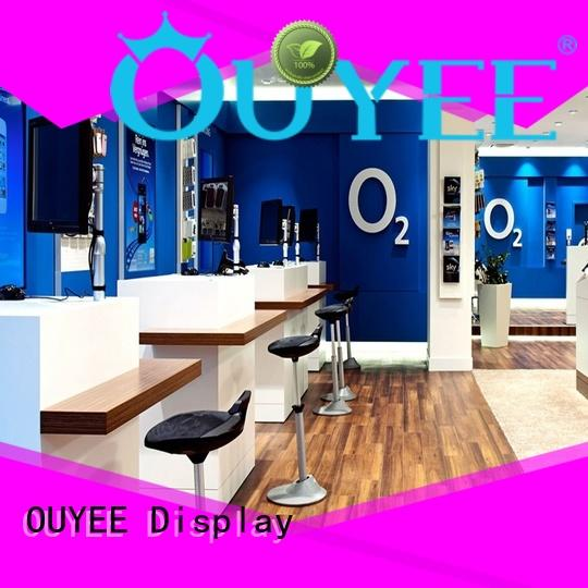 showcase mobile store designs bulk production for electronics OUYEE
