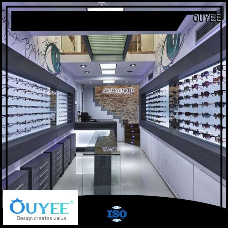 OUYEE Brand decoration units optical eyeglass display stand displays
