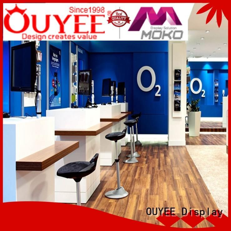 computer mdf OEM electronic shop display OUYEE