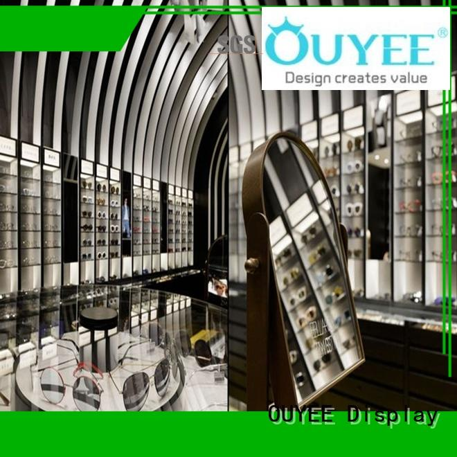 eyeglass display stand layout wooden optical displays OUYEE Brand