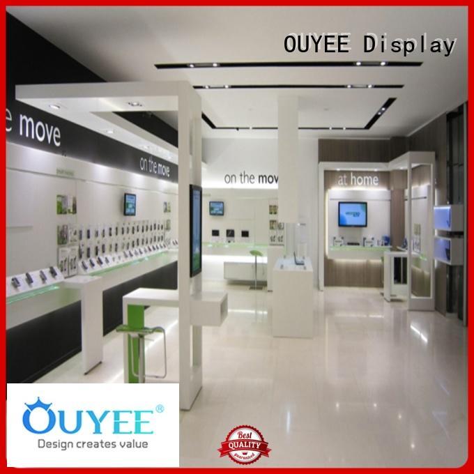 counter plywood mdf phone phone repair kiosk OUYEE Brand