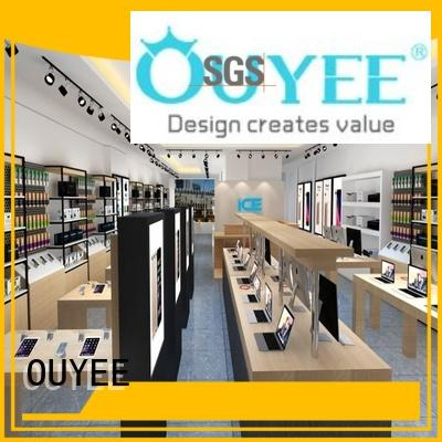 OUYEE top brand mobile shop interior design fast delivery for decoration
