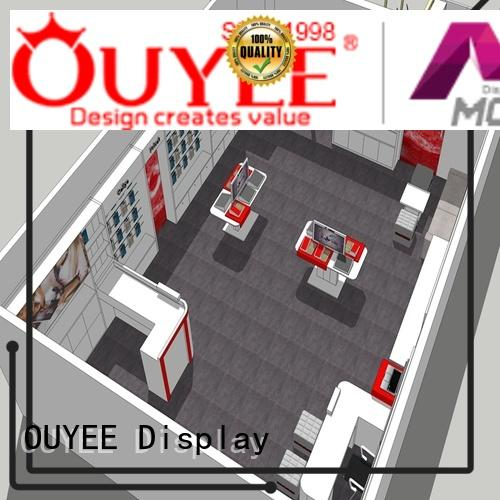 plywood mobile phone shop design wooden for store OUYEE