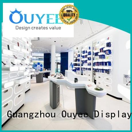 OUYEE wooden phone display counter bulk production