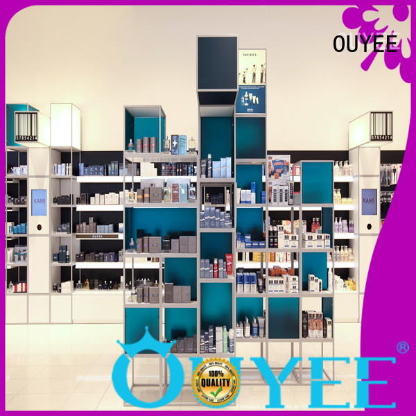 OUYEE funky style perfume display rack at discount for store