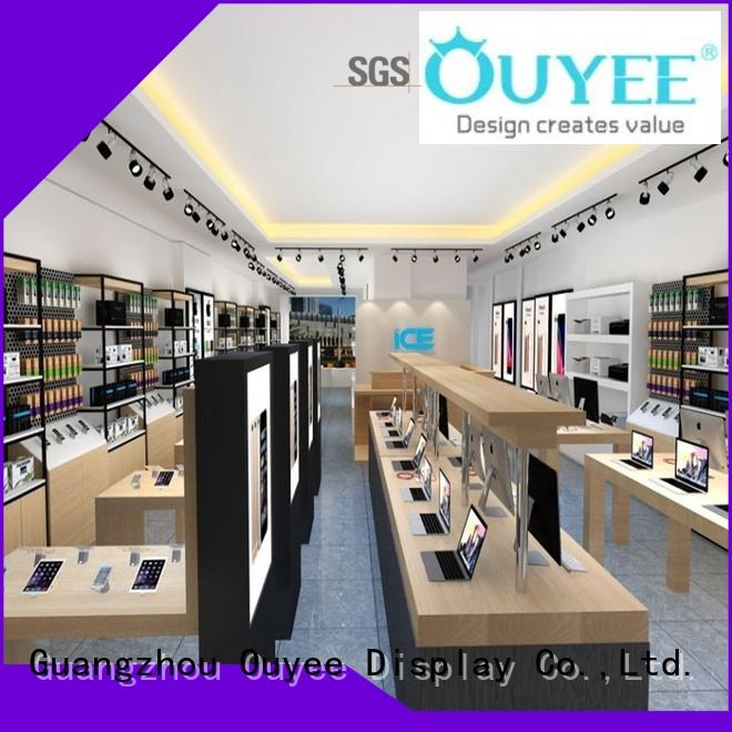 OUYEE Brand decoration cell custom phone repair kiosk
