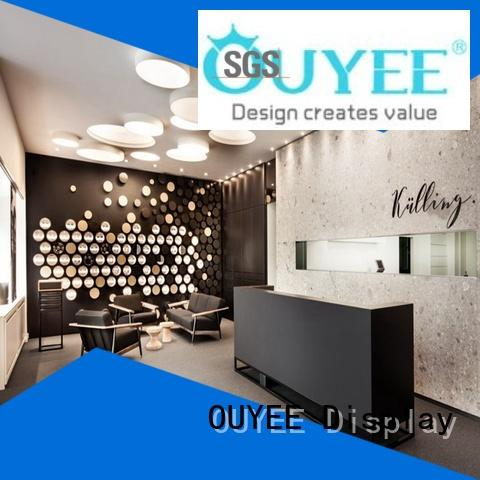 hot-sale glass display cabinets for sale wooden for supplier OUYEE