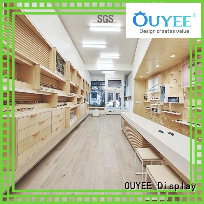 eyeglass display stand cabinets rods stand OUYEE Brand optical displays