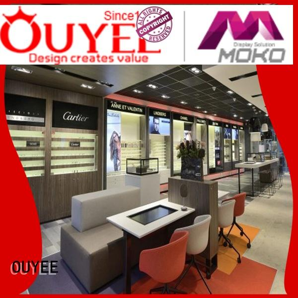 hot-sale glass display cabinets for sale for wholesale for shop OUYEE