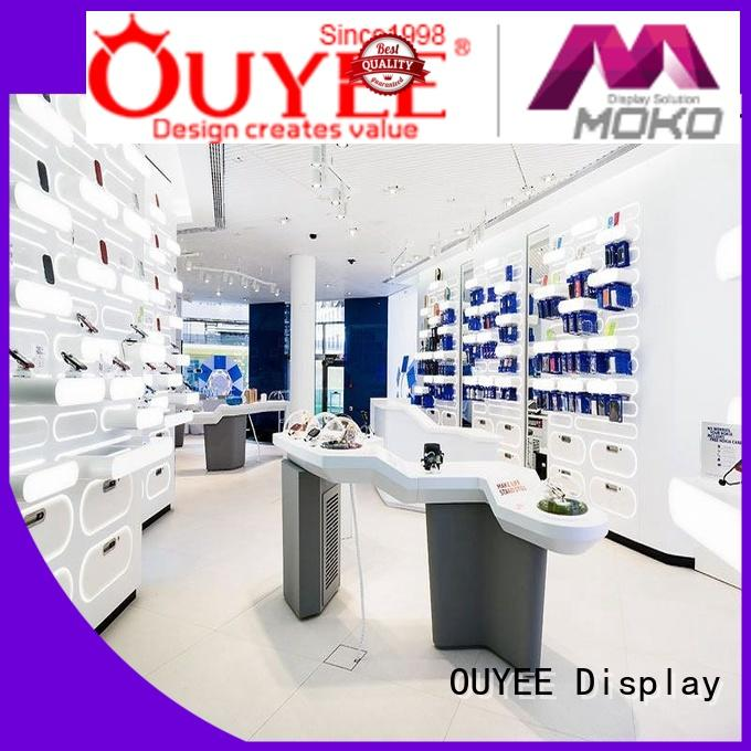 OUYEE Brand cell showcase custom phone repair kiosk