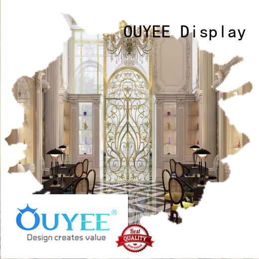 OUYEE chic design perfume stand by bulk for supermarket